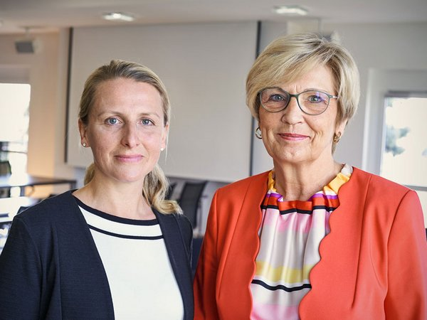Der Lipsia-Vorstand: Dr. Christina Fleischer (rechts), Vorstandsvorsitzende und Vorstand Finanzwirtschaft, und Nelly Keding, Vorstand Wohnungswirtschaft. Foto: Lipsia
