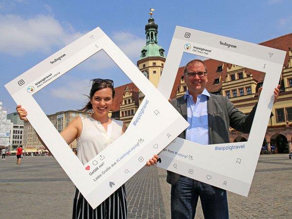 Instagram-Rahmen: Sophie Richter und Dr. Anselm Hartinger, Foto: Andreas Schmidt