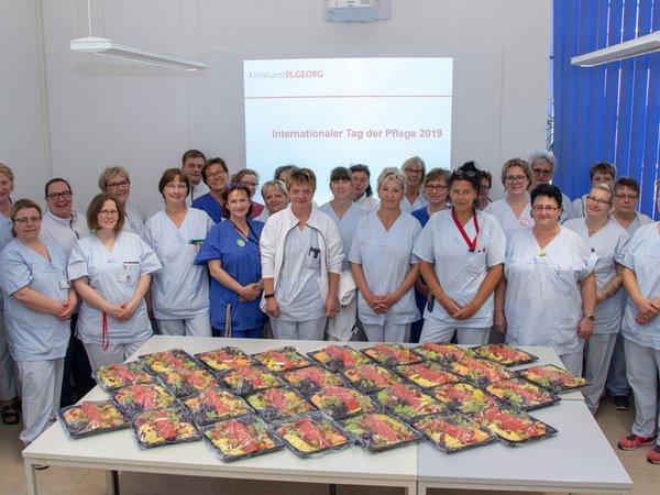 Klinikum St. Georg dankt MitarbeiterInnen zum Tag der Pflege, Foto: Klinikum St. Georg