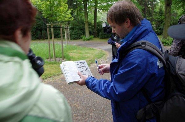Vogelbestimmungsbuch und Fernglas sind wichtige Hilfsmittel bei der Stunde der Gartenvögel.