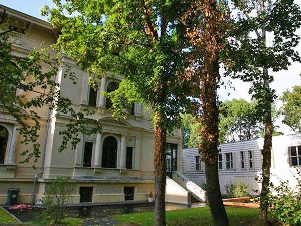 Blick vom Garten auf die Kita und villa thomana, Foto: forum thomanum