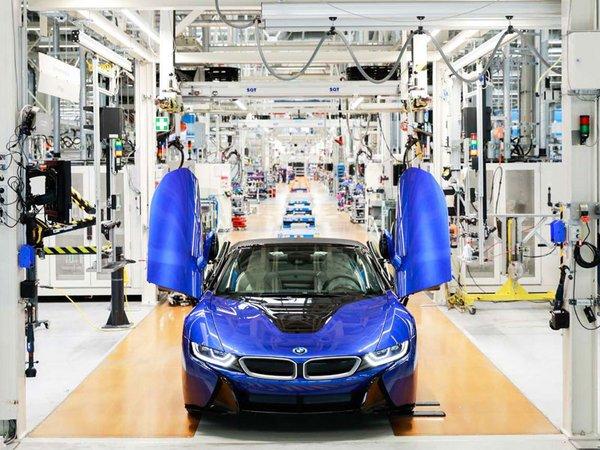 Im BMW Group Werk Leipzig ist der letzte BMW i8 vom Band gelaufen, Foto: BMW Werk Leipzig