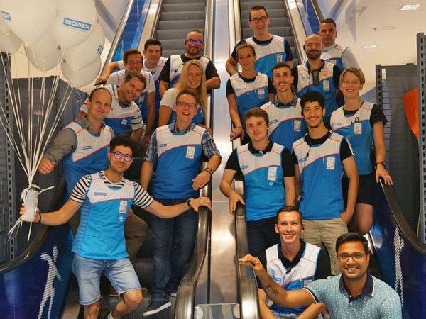 Das Team von DECATHLON in Nova Eventis, Foto: DECATHLON Deutschland