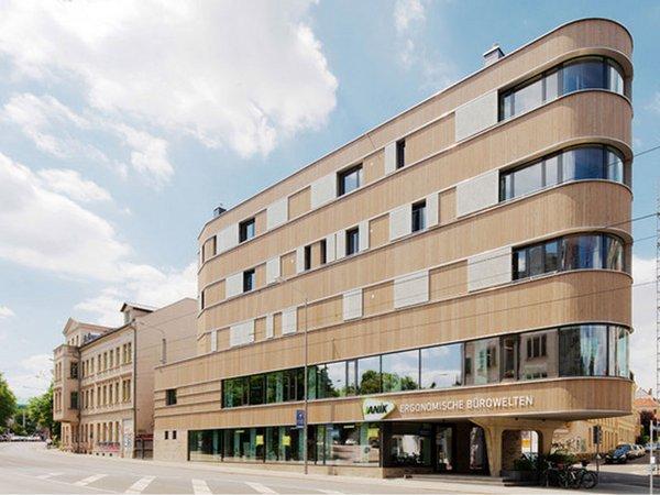 Gewinner des Architekturpreises 2019: Wohn- und Geschäftshaus in Holzbauweise in Leipzig-Lindenau, Foto: Peter Eichler