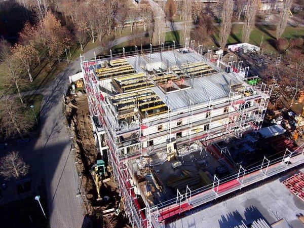 Lipsia-Turm Baustelle im Dezember, Foto: Diringer und Scheidel Bauunternehmung