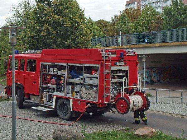 Tanklöschfahrzeug der Jugendfeuerwehr, Foto: FFW Grünau