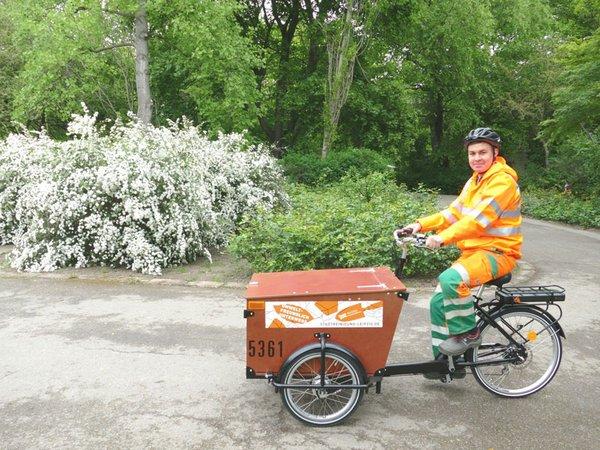 E-Bike im Clara-Zetkin-Park, Foto: Stadtreinigung Leipzig